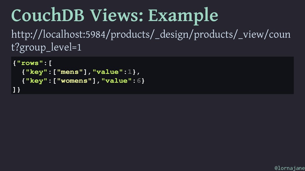 CouchDB Views: Example http://localhost:5984/pr...