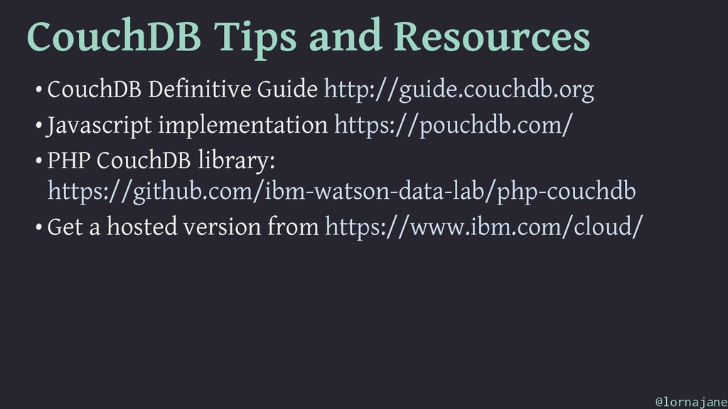 CouchDB Tips and Resources • CouchDB Definitive...