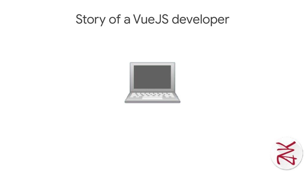 Story of a VueJS developer