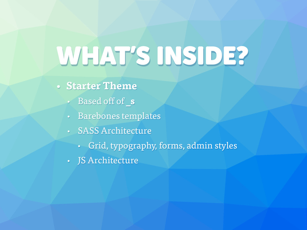 WHAT'S INSIDE? • Starter Theme • Based off of _...