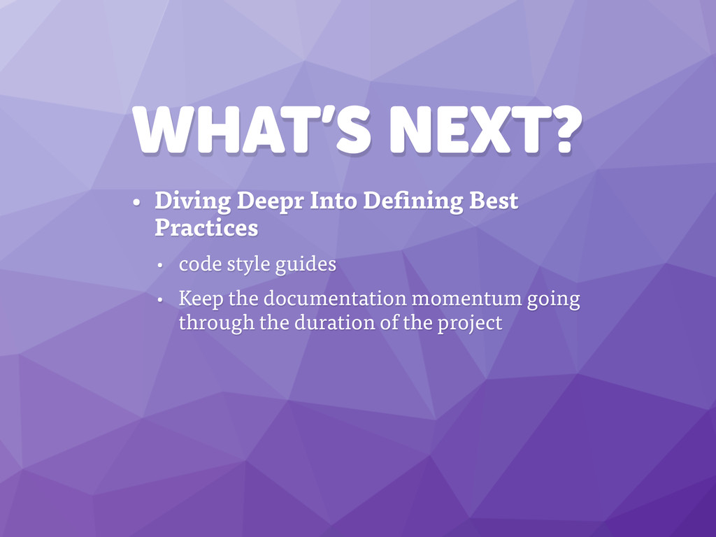 WHAT'S NEXT? • Diving Deepr Into Defining Best ...