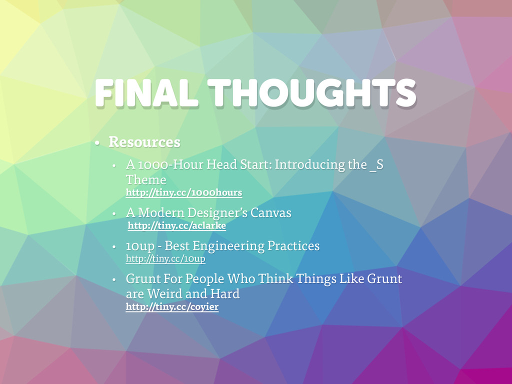 FINAL THOUGHTS • Resources • A 1000-Hour Head S...