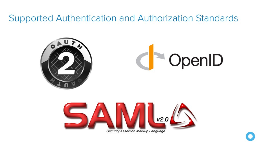 Supported Authentication and Authorization Stan...