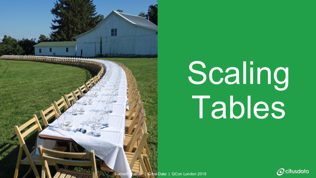 Scaling Tables Sumedh Pathak | Citus Data | QCo...
