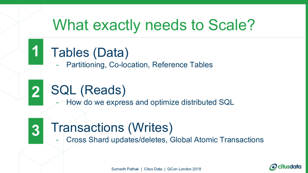 What exactly needs to Scale? - Tables (Data) - ...