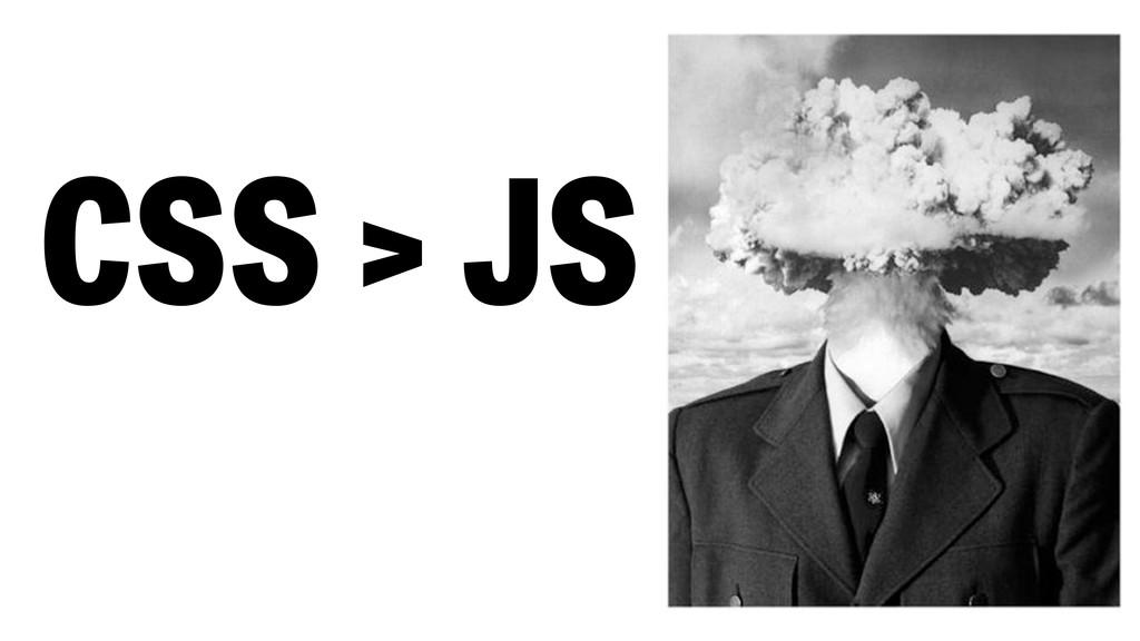 CSS > JS