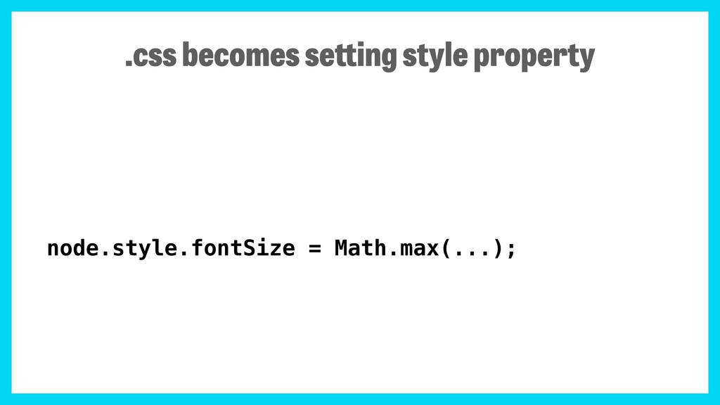 node.style.fontSize = Math.max(...); .css becom...