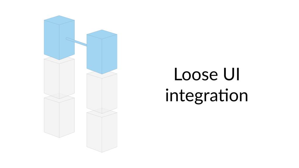 Loose UI integra9on