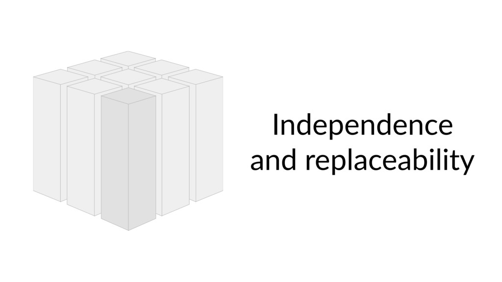 Independence and replaceability