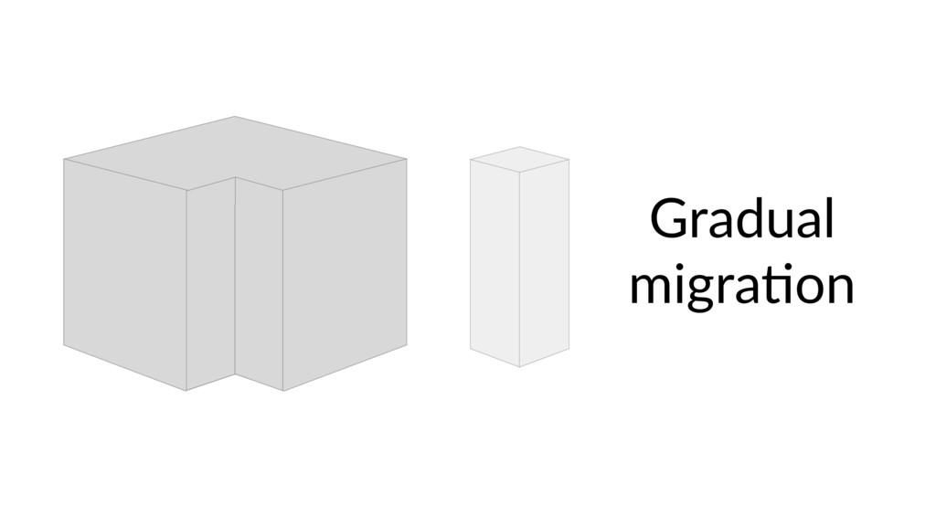 Gradual migra9on