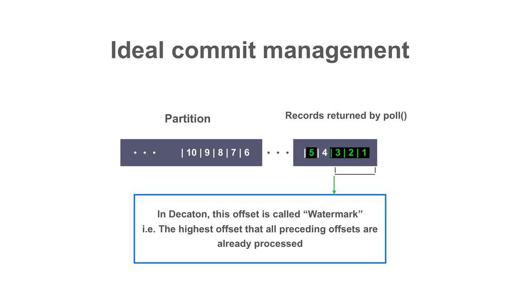 Ideal commit management ɾɾɾ | 5 | 4 | 3 | 2 | 1...