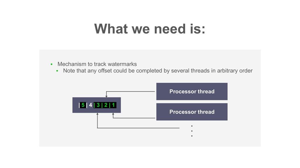 What we need is: ● Mechanism to track watermark...