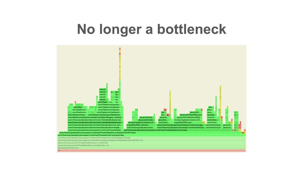 No longer a bottleneck