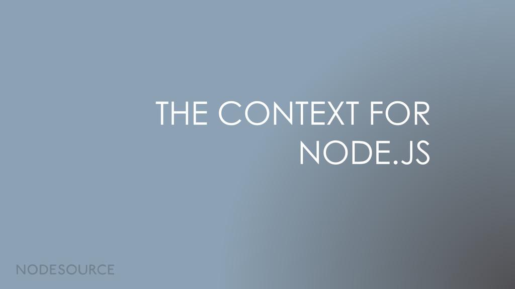 THE CONTEXT FOR NODE.JS