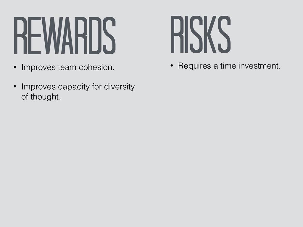 Rewards • Improves team cohesion. • Improves ca...