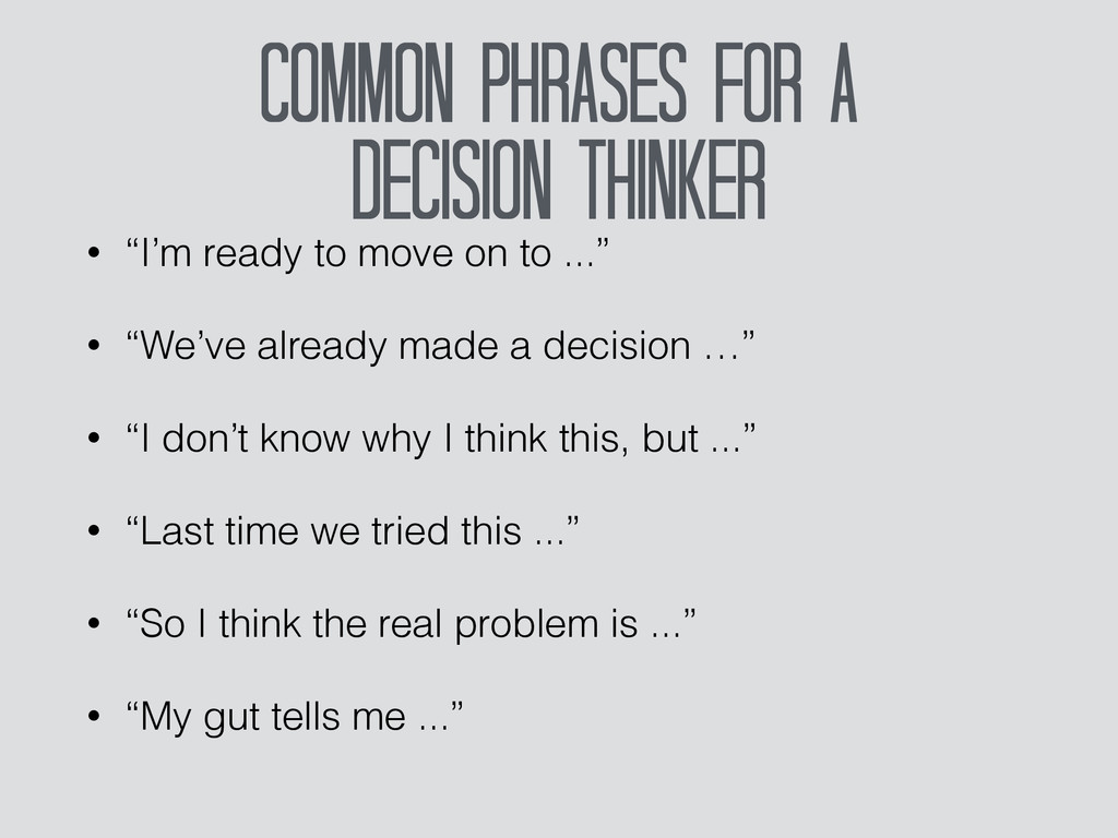 Common Phrases For a