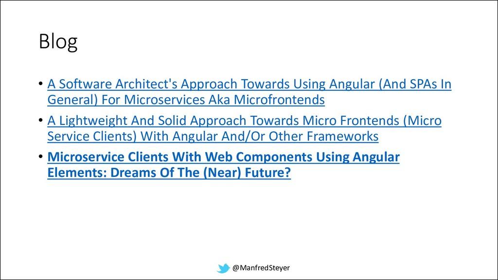 @ManfredSteyer Blog • A Software Architect's Ap...