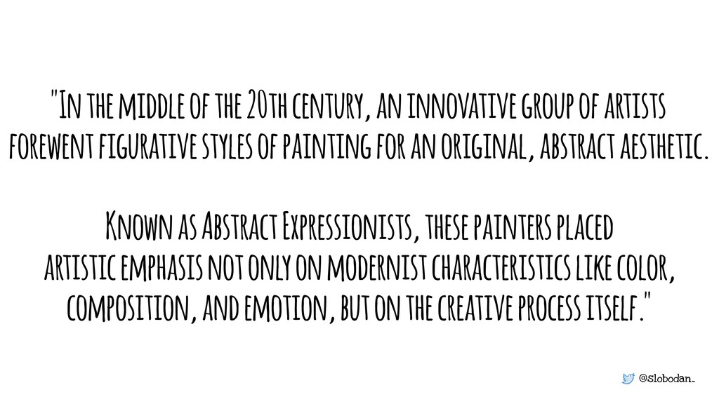 """@slobodan_ """"In the middle of the 20th century, ..."""
