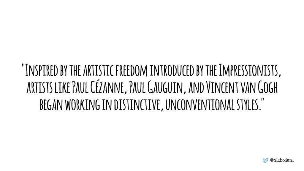 """@slobodan_ """"Inspired by the artistic freedom in..."""