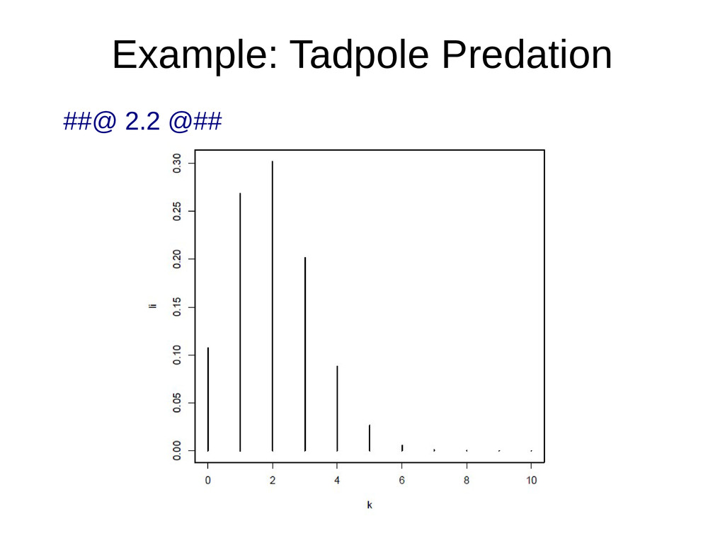 Example: Tadpole Predation ##@ 2.2 @##