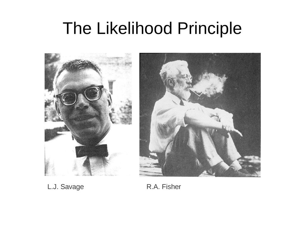The Likelihood Principle L.J. Savage R.A. Fisher