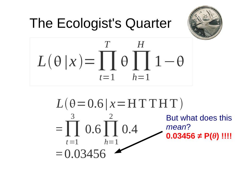 L |x=∏ t=1 T  ∏ h=1 H 1− The Ecologist's Q...