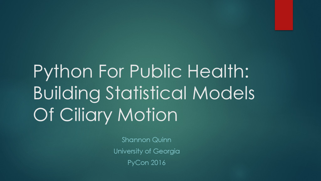 Python For Public Health: Building Statistical ...