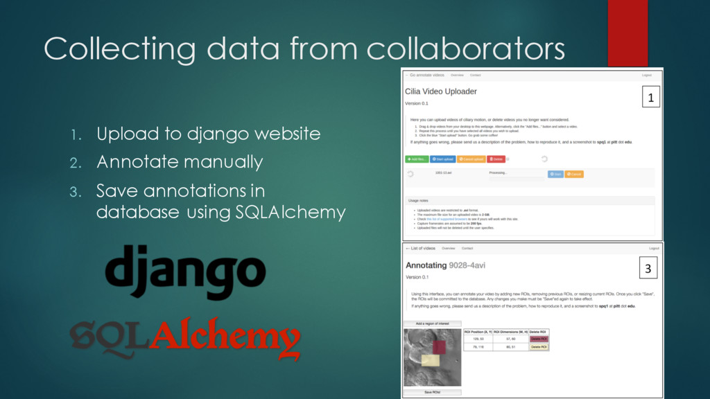 Collecting data from collaborators 1. Upload to...