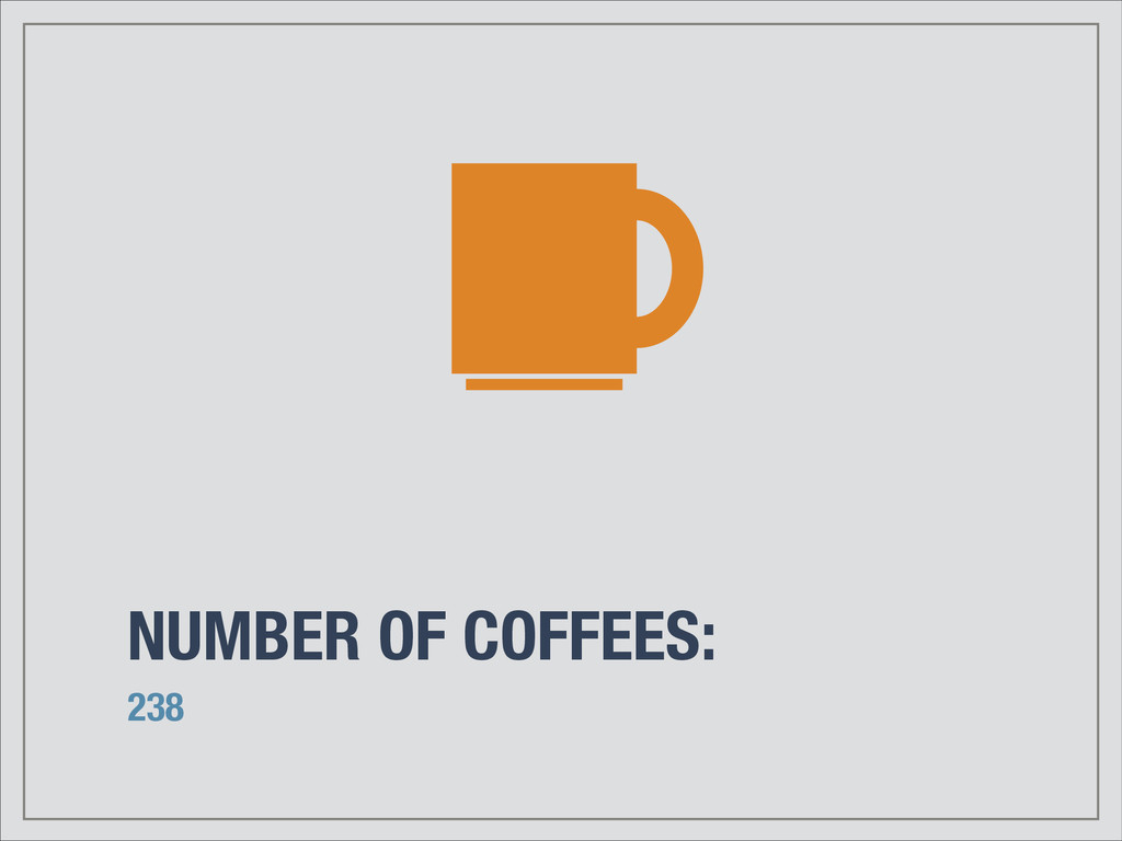 NUMBER OF COFFEES: 238