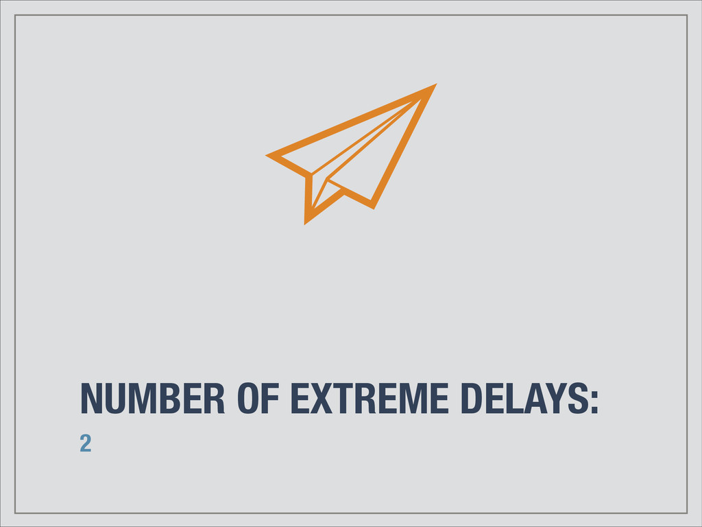 NUMBER OF EXTREME DELAYS: 2
