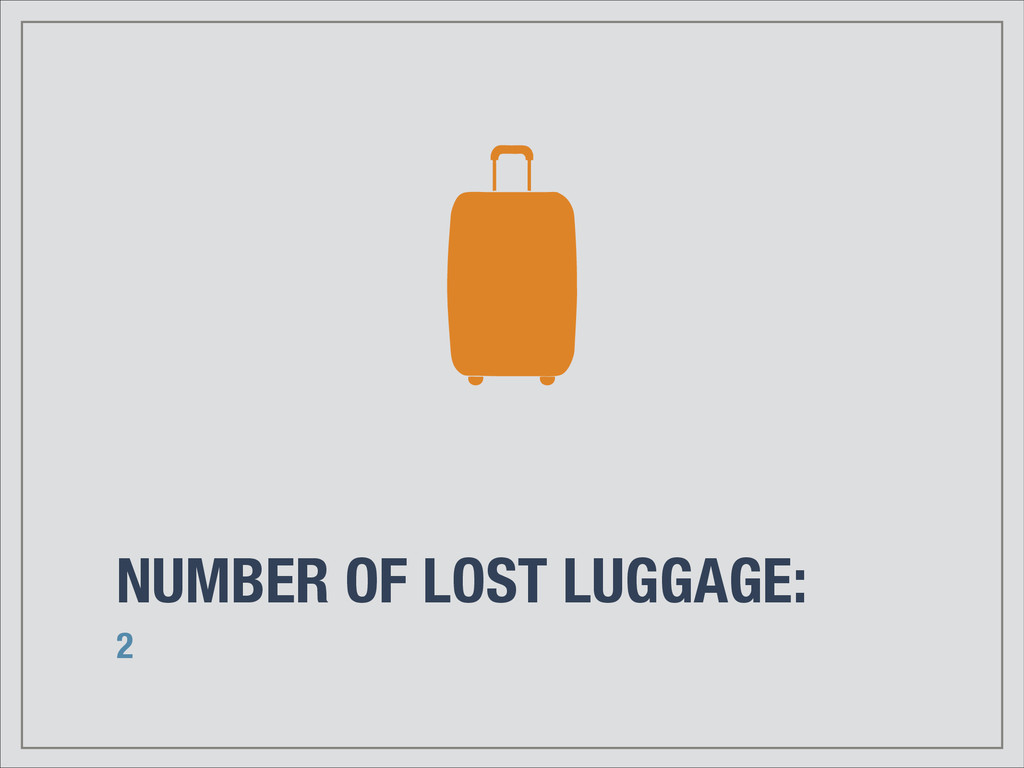 NUMBER OF LOST LUGGAGE: 2