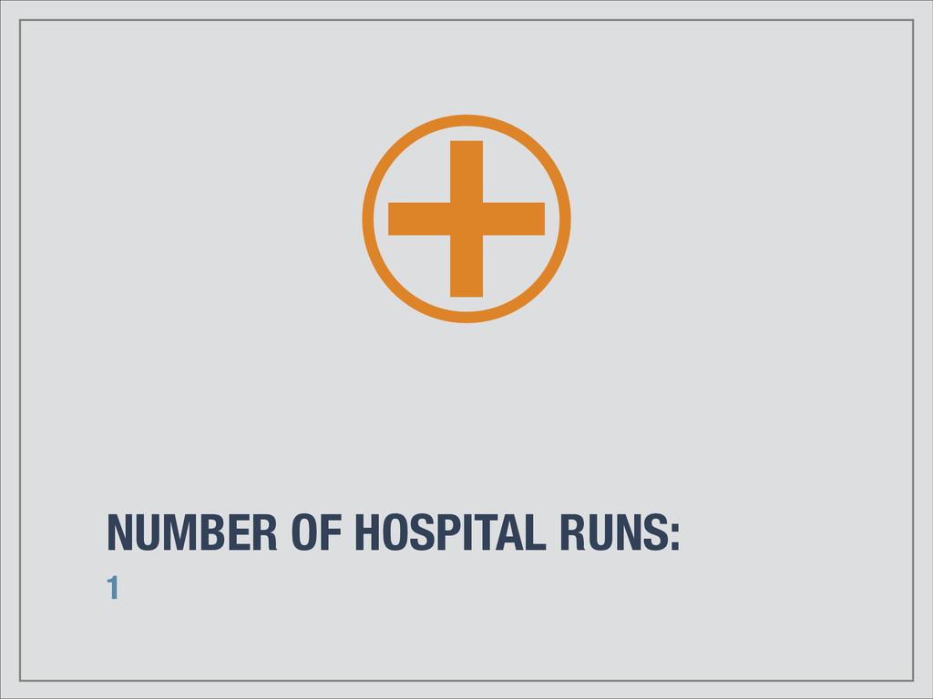 NUMBER OF HOSPITAL RUNS: 1