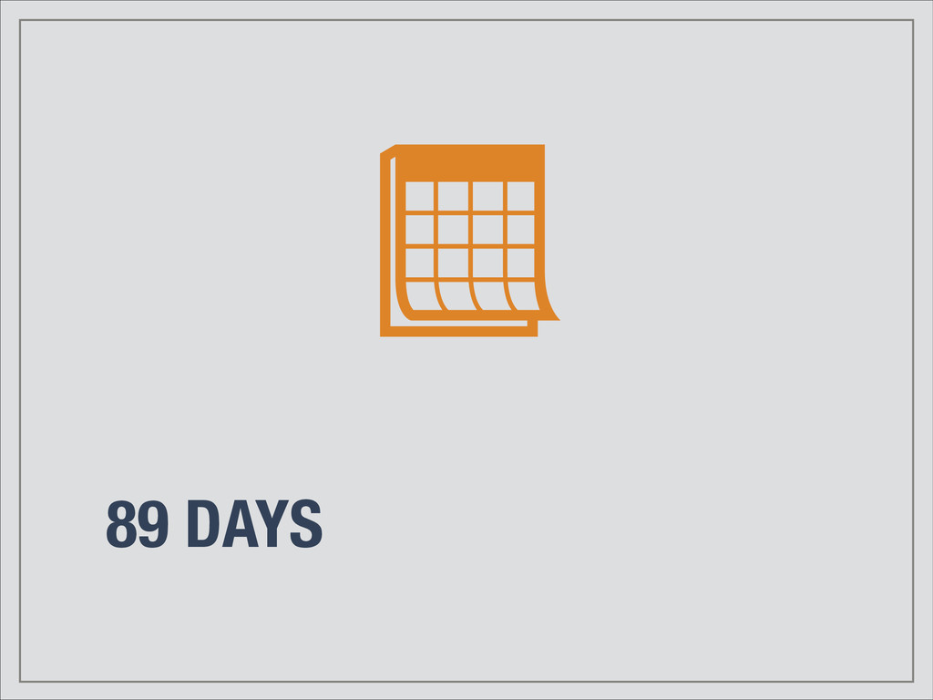 89 DAYS