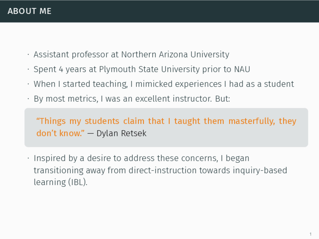 about me ∙ Assistant professor at Northern Ariz...