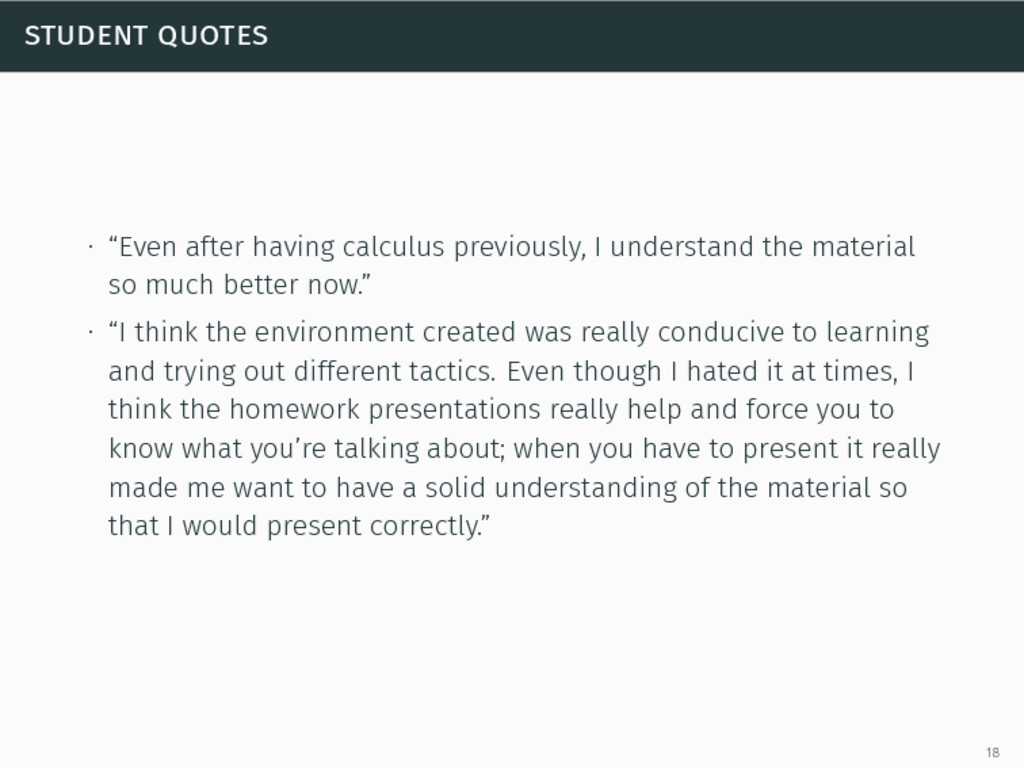 """student quotes ∙ """"Even after having calculus pr..."""