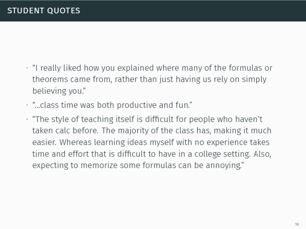"""student quotes ∙ """"I really liked how you explai..."""