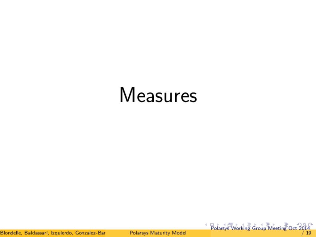 Measures Blondelle, Baldassari, Izquierdo, Gonz...