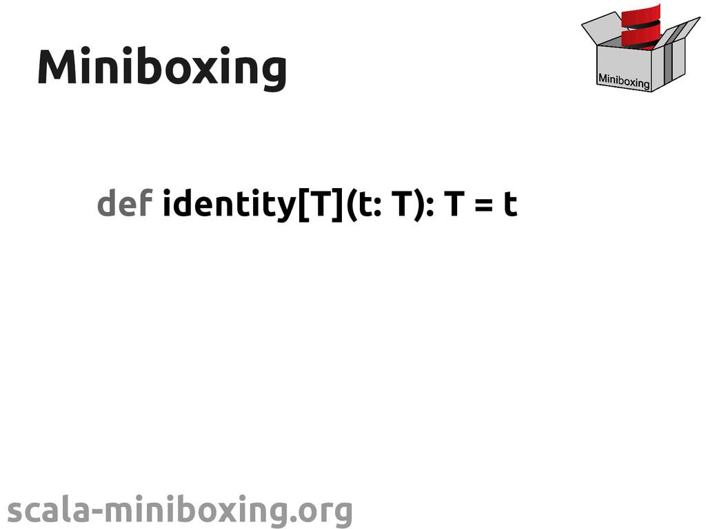 scala-miniboxing.org Miniboxing Miniboxing def ...