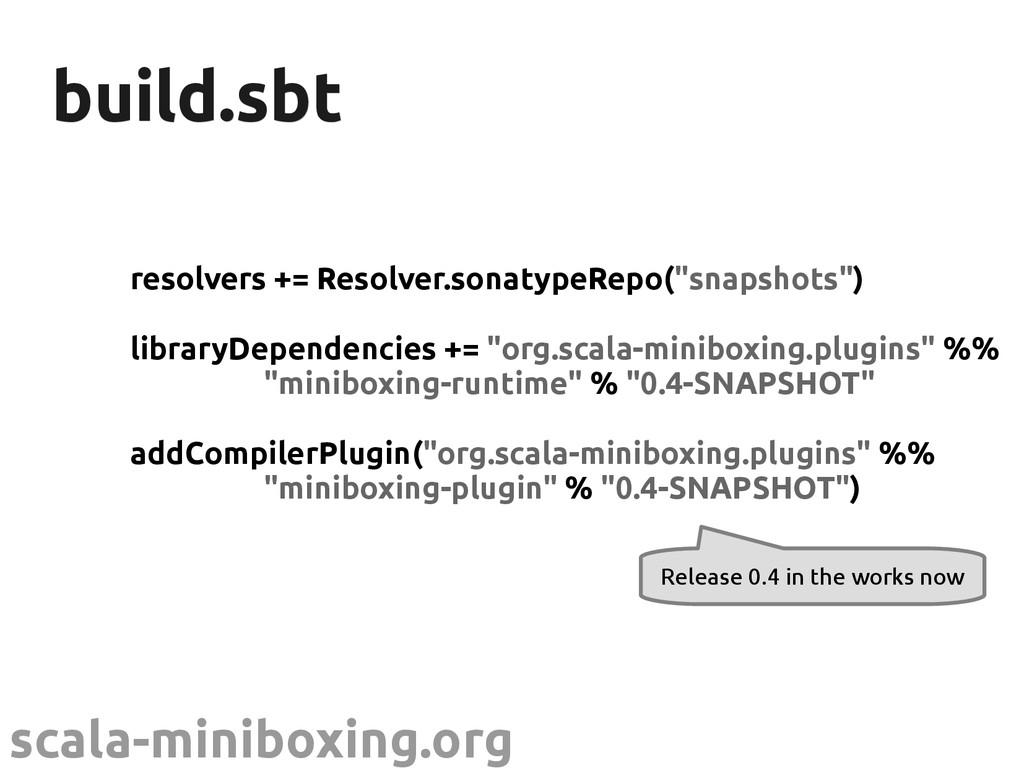 scala-miniboxing.org build.sbt build.sbt resolv...