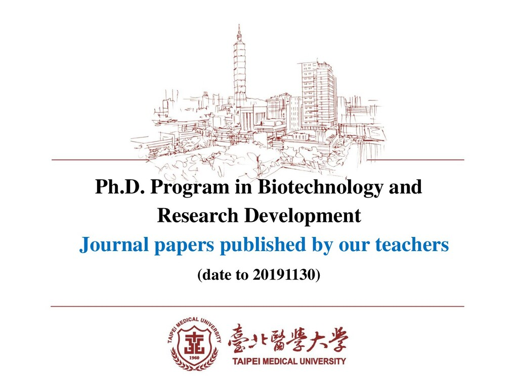Ph.D. Program in Biotechnology and Research Dev...