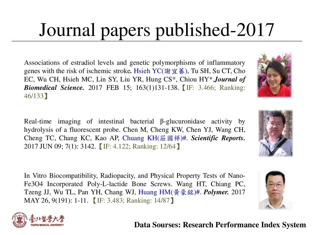 Journal papers published-2017 Associations of e...