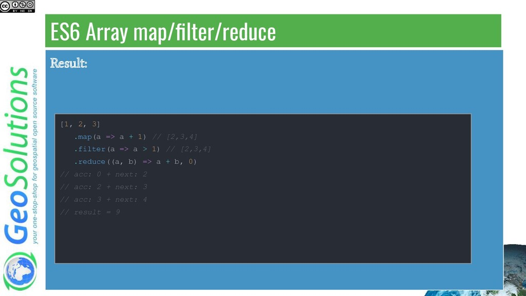 ES6 Array map/filter/reduce Result: [1, 2, 3] .m...
