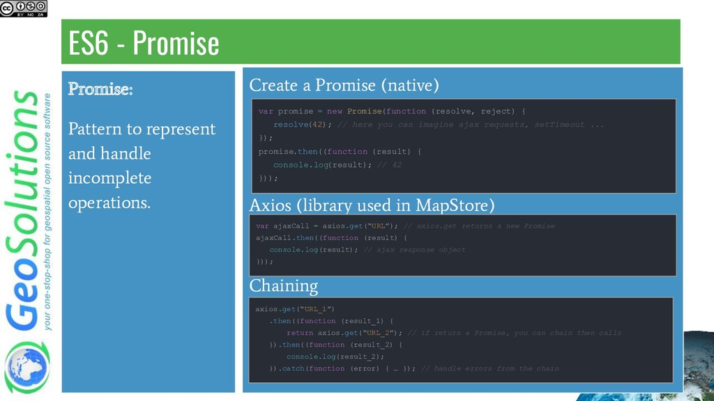 ES6 - Promise Create a Promise (native) Axios (...