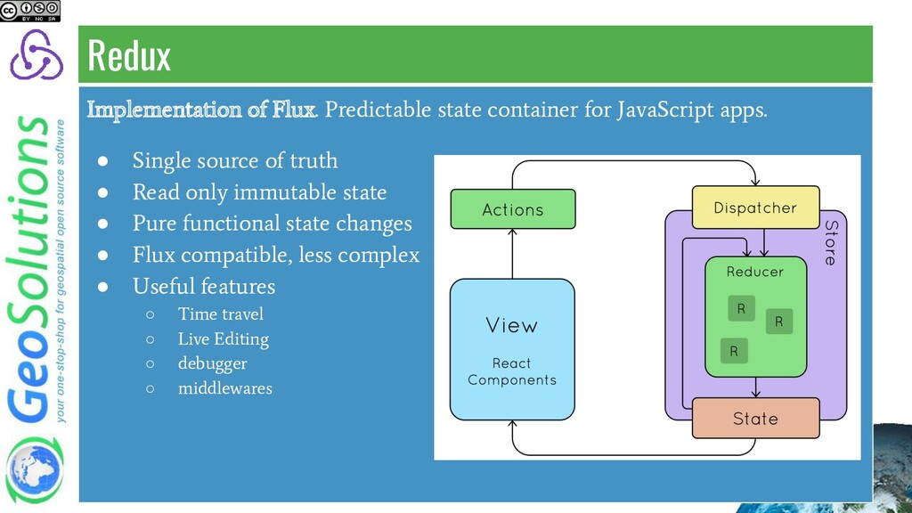 Implementation of Flux. Predictable state conta...
