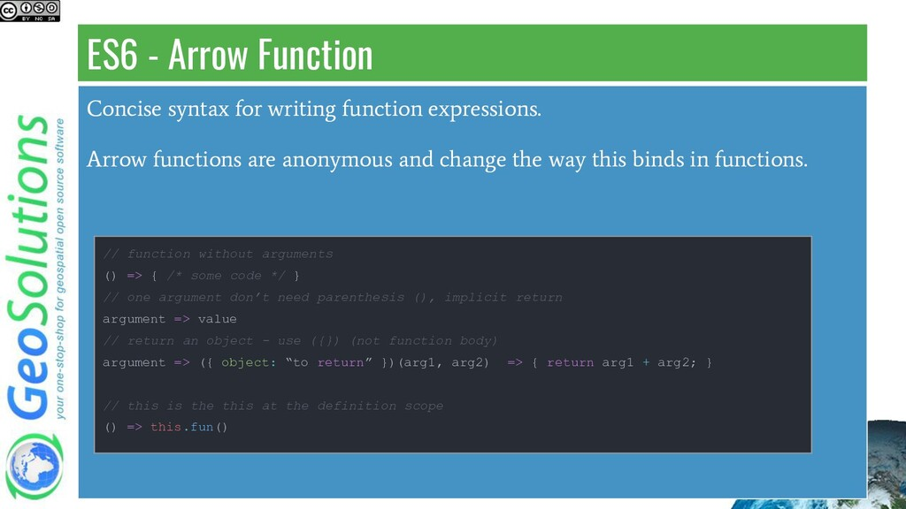 ES6 - Arrow Function Concise syntax for writing...