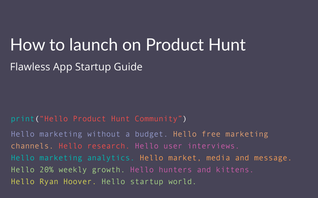 How to launch on Product Hunt Flawless App Star...