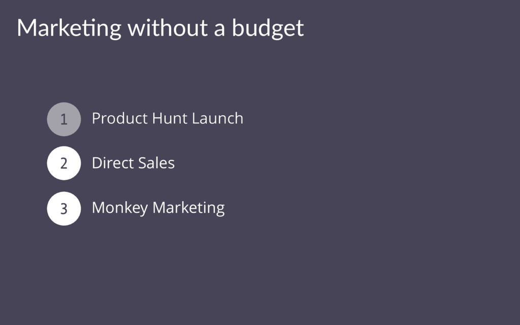 Marke&ng without a budget Product Hunt Launch D...
