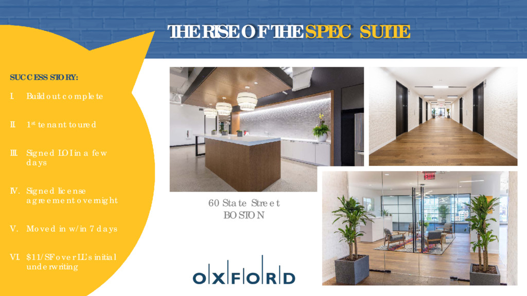 THE RISE OF THE SPEC SUITE 60 State Street BOST...