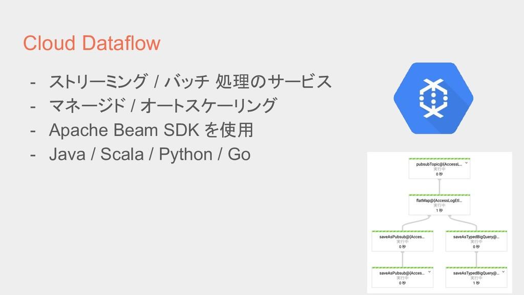 Cloud Dataflow - ストリーミング / バッチ 処理のサービス - マネージド ...