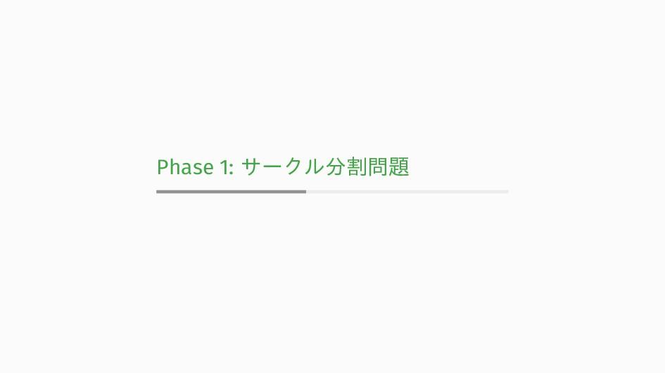 Phase 1: サークル分割問題